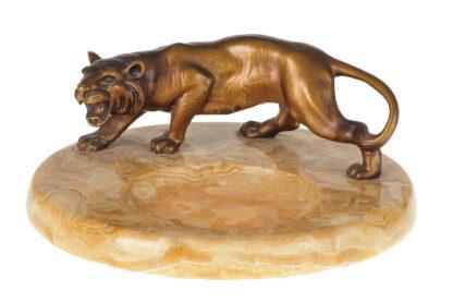 Visitenkarten Schale Bronze Tiger