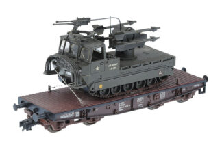 ROCO H0/HO Waggon mit US Rocket Launcher
