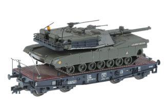 ROCO H0/HO Waggon mit US Panzer/Tank