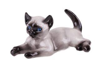 Rosenthal liegende Siam Katze Fritz Heidenreich
