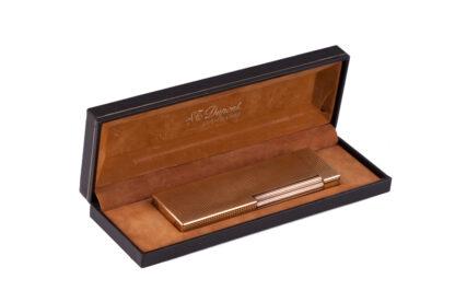 S.t.Dupont Feuerzeug Tischfeuerzeug gold in Originalbox