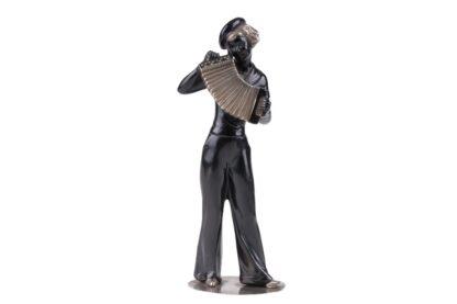 Figur Frau mit Ziehharmonika im Matrosen Gewand