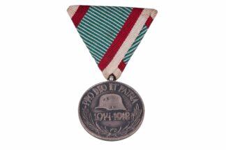 Ungarische Weltkrieg Erinnerungsmedaille Pro Deo Et Patria 1914-1918