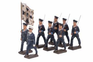 LINEOL Marine Offizier Fahnenträger 6 Matrosen