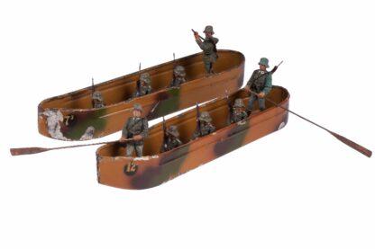 LINEOL Pioniere 2 Ponton Boote + Figuren