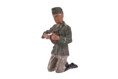LINEOL Soldat Brot schneidend