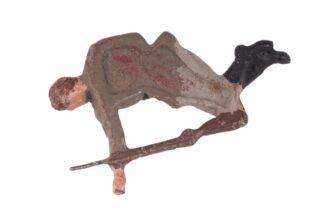 LINEOL Soldat verwundet auf Rücken liegend