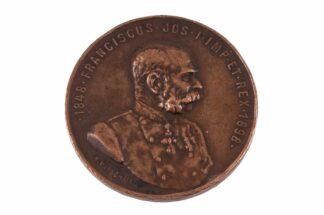 Bronzene Medaille Kaiser 1848 Franciscus Jos I Imp Et Rex 1898