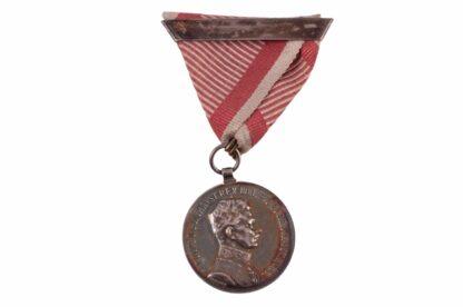 Silberne Tapferkeitsmedaille Orden Kaiser Karl Fortitvdini mit Wiederholungsspange