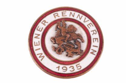 Jockey Pferderennen Pin Badge Abzeichen Wiener Rennverein 1935