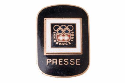 OLYMPIA Abzeichen Badge Pin Innsbruck 1964 Presse