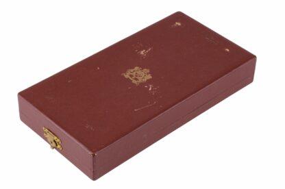 Marokko Quissam Alaouite Orden, 3. Modell, Großoffiziers Satz im Etui3