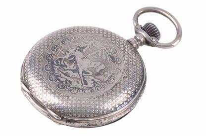 Silberne Taschenuhr mit Adler1
