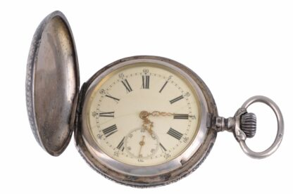 Silberne Taschenuhr mit Adler10