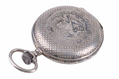 Silberne Taschenuhr mit Adler12