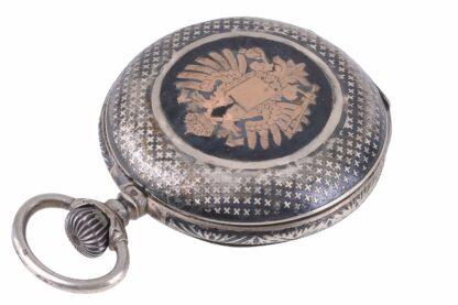 Silberne Taschenuhr mit Adler2