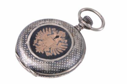 Silberne Taschenuhr mit Adler3
