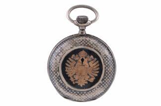 Silberne Taschenuhr mit Adler4