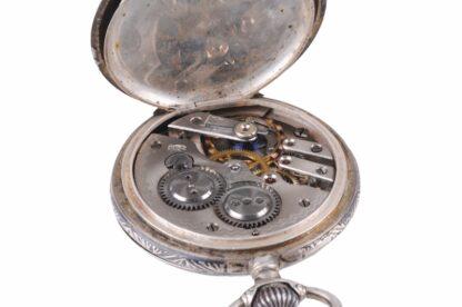 Silberne Taschenuhr mit Adler5