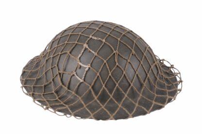 Stahlhelm aus Belgien WW2 mit Tarnnetz5