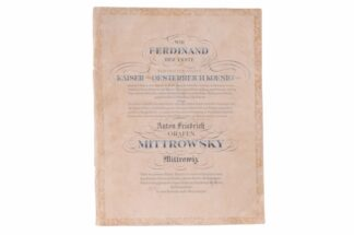 Verleihungsurkunde Ferdinand der Erste Österreich 2