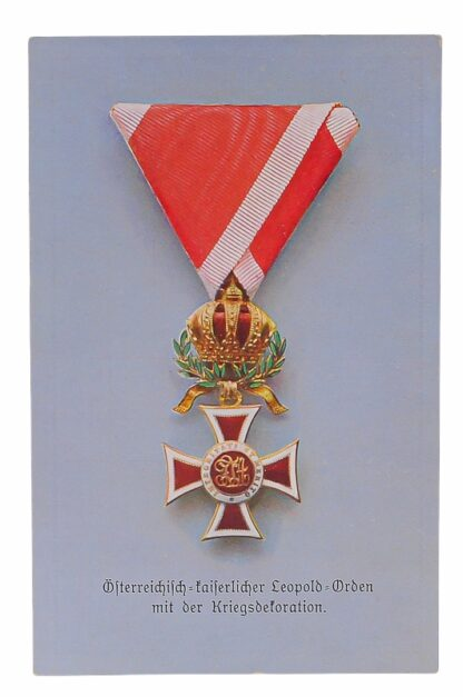 Ansichtskarten AK Österreichische Orden aus der Monarchie21