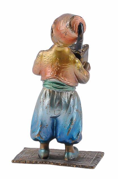 Bronze Figur Bergmann Junge orientale mit Schmuckkiste2