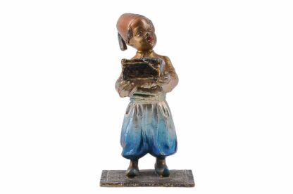 Bronze Figur Bergmann Junge orientale mit Schmuckkiste5