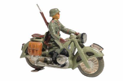 Elastolin Soldat Gradmelder Motorradfahrer2