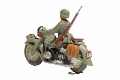 Elastolin Soldat Gradmelder Motorradfahrer4