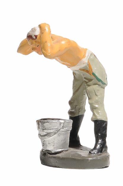 Elastolin Soldat Lagerleben Waschend4