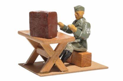 Elastolin Soldat Lagerleben mit Funkgerät und Schreibmaschine5