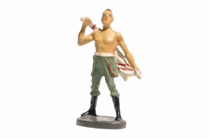 Elastolin Soldat Lagerleben mit Handtuch1