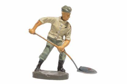 Elastolin Soldat Rekrut Nr 2 Schippend mit Schaufel1