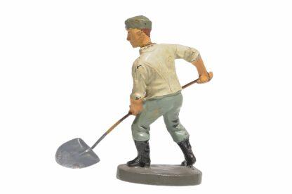 Elastolin Soldat Rekrut Nr 2 Schippend mit Schaufel2