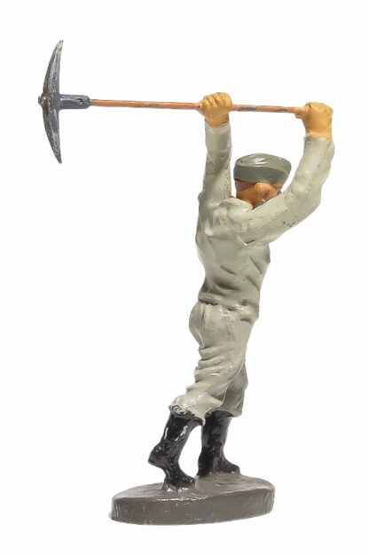 Elastolin Soldat Rekrut Nr 2 mit Hacke2