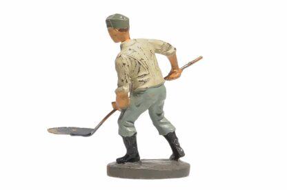 Elastolin Soldat Rekrut Schippend mit Schaufel3