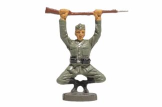 Elastolin Soldat Rekrut in Kniebeuge1
