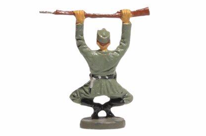 Elastolin Soldat Rekrut in Kniebeuge2
