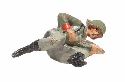 Elastolin Soldat kniend mit Granate3