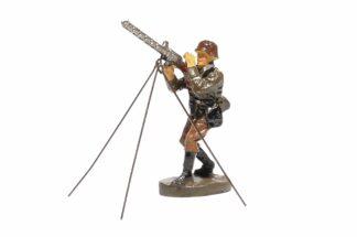 Elastolin Soldat mit MG Fliegerabwehr1
