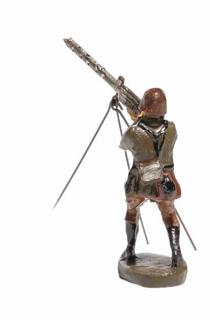 Elastolin Soldat mit MG Fliegerabwehr3