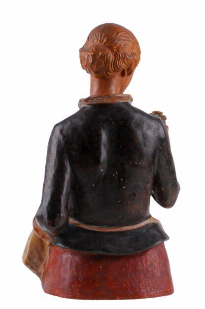 Keramik Figur Frau mit Blumen von Ida Schwetz Lehmann Wien 19382