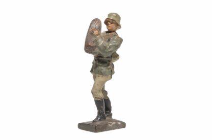 Elastolin Soldat Ladewart mit Granate Lineol1