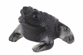 Lalique France Sitzender Frosch Black Frog1