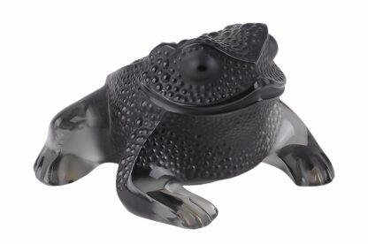 Lalique France Sitzender Frosch Black Frog2