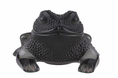 Lalique France Sitzender Frosch Black Frog5