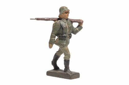 Lineol Soldat gehend Gewehr geschultert1