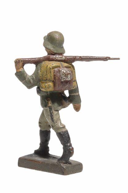 Lineol Soldat gehend Gewehr geschultert2