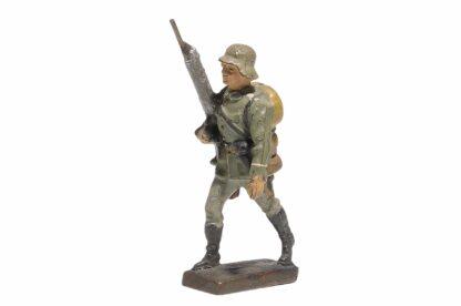 Lineol Soldat marschierend mit MG1